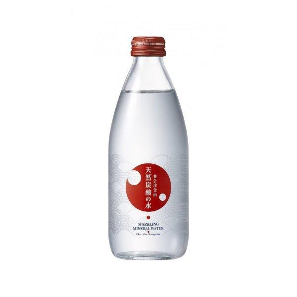 画像1: 奥会津金山 天然炭酸の水 赤ラベル(ガス入り) | 330ml(ビン) ×24本〔送料無料〕 (1)
